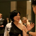Janet Yang On set for cameo with Daniel Hsia